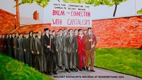 Republican mural, Belfast, Northern Ireland royalty free stock images