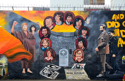 Republican mural, Belfast, Northern Ireland Royalty Free Stock Photos