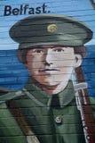 Republican mural, Belfast, Northern Ireland stock images