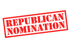REPUBLICAN NOMINATION. Red Rubber Stamp over a white background Royalty Free Stock Images