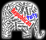 Republican Party word cloud Royalty Free Stock Images
