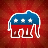 Republican political party animal Stock Image
