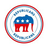 Republican political party animal Stock Images