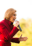 Republican presidential candidate Carly Fiorina campaigns in Bedford, New Hampshire. Royalty Free Stock Photos