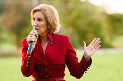 Republican presidential candidate Carly Fiorina campaigns in Bedford, New Hampshire. Stock Images