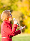 Republican presidential candidate Carly Fiorina campaigns in Bedford, New Hampshire Stock Images