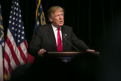 Republican Presidential Candidate Donald J Trump. 21 February 2016:  Republican Presidential candidate Donald Trump speaks to several thousand supporters at a