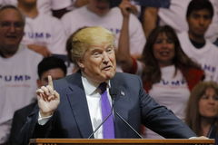 Free Republican Presidential Candidate Donald Trump Campaign Rally At The South Point Arena & Casino In Las Vegas Stock Photo - 68071220