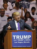 Republican presidential candidate Donald Trump campaign rally at the South Point Arena & Casino in Las Vegas Stock Image