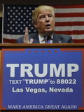Republican presidential candidate Donald Trump campaign rally at the South Point Arena & Casino in Las Vegas Stock Photo