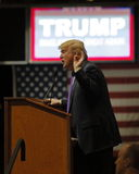 Republican presidential candidate Donald Trump campaign rally at the South Point Arena & Casino in Las Vegas Stock Photos