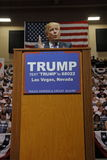 Republican presidential candidate Donald Trump campaign rally at the South Point Arena & Casino in Las Vegas Royalty Free Stock Photography