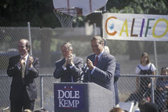 Republican presidential candidate for the 1996 election, Senator Bob Dole speaks at a rally at Temple Christian School in Ventura, Royalty Free Stock Photos