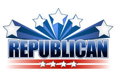 Republican sign. Illustration over a white background Stock Images