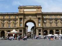 Republican Square in Florence Stock Image