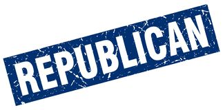 republican stamp stock image