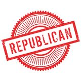 Republican stamp rubber grunge Royalty Free Stock Photography