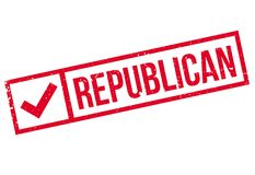 Republican stamp rubber grunge Royalty Free Stock Image