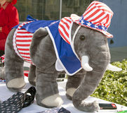 Republican Supporters at GOP Debate Stock Photography