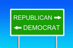 Republican versus democrat Royalty Free Stock Photo