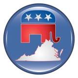 Republican Virginia Button Royalty Free Stock Photos