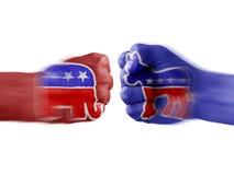 Republicanos de Demócratas x fotografía de archivo