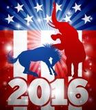Republicanos que ganan el concepto 2016 de la elección Fotografía de archivo