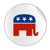 Republicans logo sticker. Illustration for Republicans party sticker