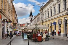 Republicii boulevard in Oradea. Romania Royalty Free Stock Photography