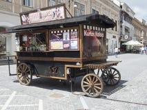 Republicii street in Brasov, Romania stock image