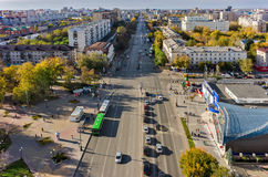 Republics and Holodilnaya intersection. Tyumen Stock Photos