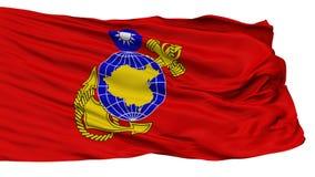Republiek China Marine Corps Flag, op Wit wordt geïsoleerd dat stock illustratie