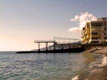 Republiek de Krim, Yalta, PGT Nikita, overzees, strand Stock Fotografie