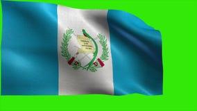 Republiek Guatemala, Republica DE Guatemala, vlag van Guatemala - LIJN stock videobeelden