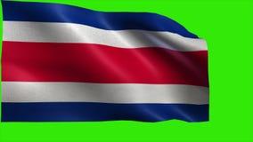 Republiek van Costa Rica, Republica DE Costa Rica, Vlag van Costa Rica - LIJN stock videobeelden