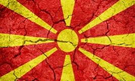 Republiek van de vlag van Macedonië Stock Foto