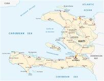 Republiek van de weg vectorkaart van Haïti stock illustratie