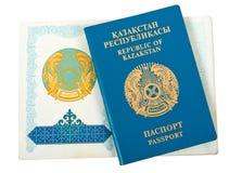 Republiek van Paspoort Kazakstan Royalty-vrije Stock Afbeelding