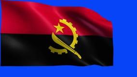 Republik Angola, Flagge von Angola - nahtlose SCHLEIFE stock video