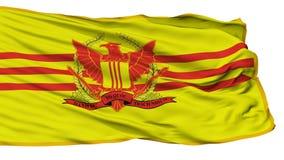 Republik av den Vietnam krigsmaktflaggan som isoleras på vit stock illustrationer