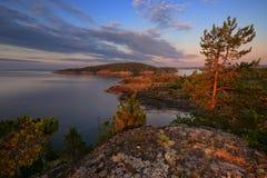 Republik av Karelia, Ladoga sj? arkivfoto