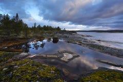 Republik av Karelia, Ladoga sj? royaltyfri bild