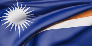 Republik av Marshall Islands Flag stock illustrationer