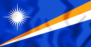 Republik av Marshall Islands Flag illustration 3d Royaltyfria Bilder
