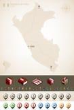 Republik av Peru Arkivfoto