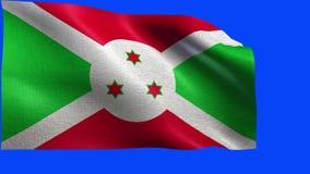 Republik Burundi, Flagge von Burundi - nahtloses LO stock video footage