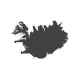 Republik des Island-Kartenschattenbildes Lizenzfreie Stockfotografie