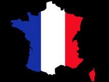 Republik- Frankreichkarte Lizenzfreie Stockfotos