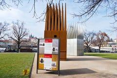 REPUBLIK, PRAG - 14. MÄRZ 2016: Denkmal zu Jan Palach, Ales-Damm, alte Stadt-UNESCO, Prag, Tschechische Republik Stockfoto