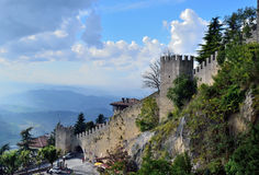 Republik San Marino in Südeuropa Lizenzfreie Stockfotos
